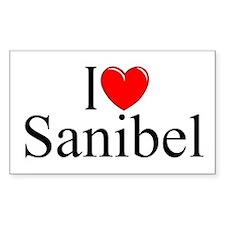 """I Love Sanibel"" Rectangle Decal"