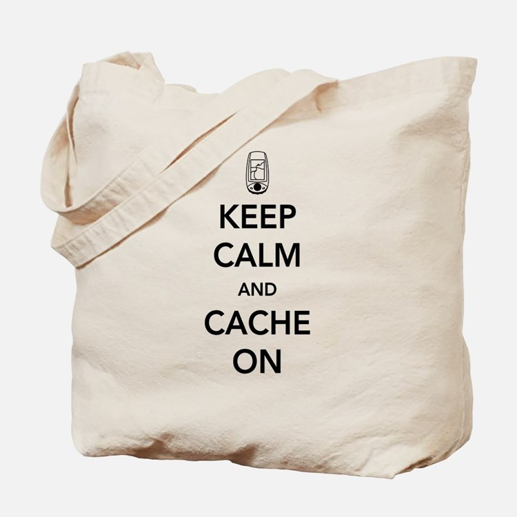 Keep and calm cache on Tote Bag