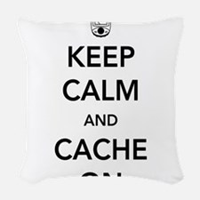 Keep and calm cache on Woven Throw Pillow