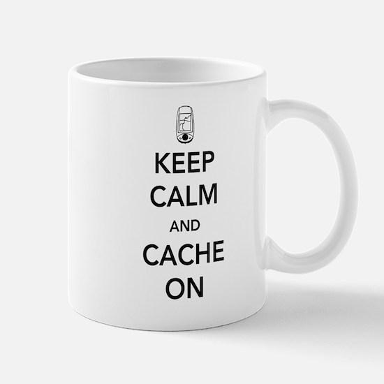 Keep and calm cache on Mugs