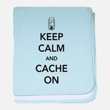 Keep and calm cache on baby blanket
