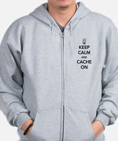 Keep and calm cache on Zip Hoodie