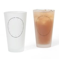 Cyber Security Gray Drinking Glass