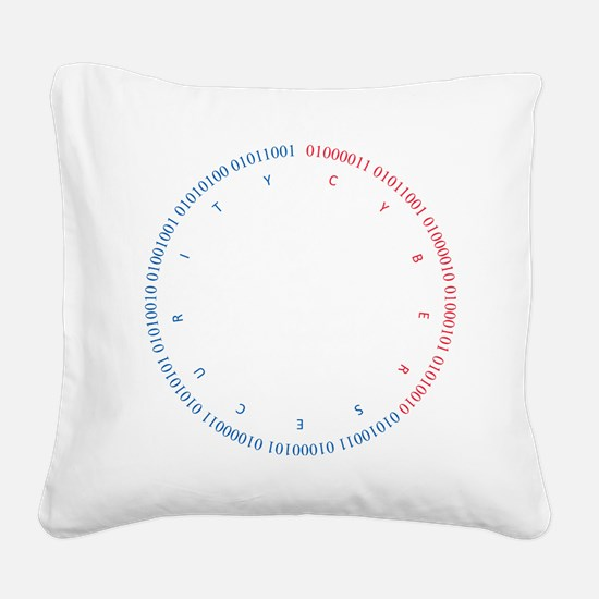 Cyber Security w/ Text RB Square Canvas Pillow
