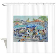 SHOPPING IN HAITI Shower Curtain