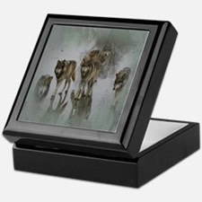 Grunge Wolf Pack Keepsake Box