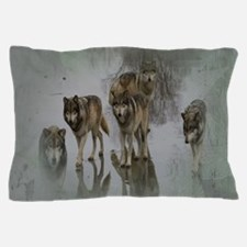 Grunge Wolf Pack Pillow Case