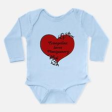 Custom Gothic Heart Long Sleeve Infant Bodysuit