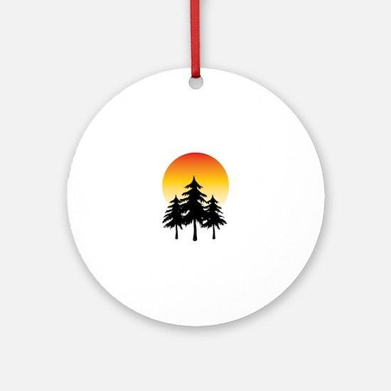 Moon Trees Ornament (Round)