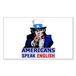 Americans Speak English Rectangle Sticker