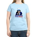 Americans Speak English Women's Light T-Shirt