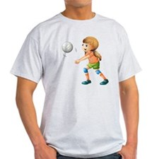 A smiling girl playing volleyball T-Shirt