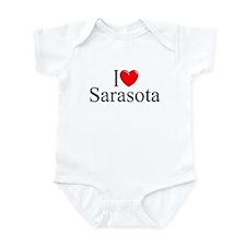 """I Love Sarasota"" Infant Bodysuit"