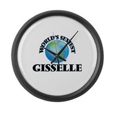 World's Sexiest Gisselle Large Wall Clock