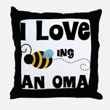 I Love Being An Oma Throw Pillow