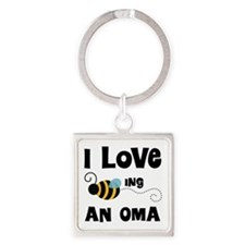 I Love Being An Oma Square Keychain