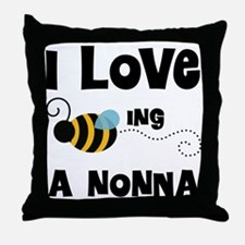I Love Being A Nonna Throw Pillow