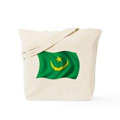 Wavy Mauritania Flag Tote Bag