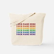 Rainbow Custom Text Tote Bag