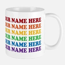 Rainbow Custom Text Mug