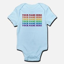 Rainbow Custom Text Infant Bodysuit