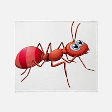 A big ant crawling Throw Blanket