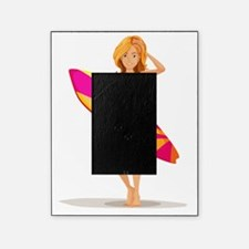 A slim lady surfing Picture Frame