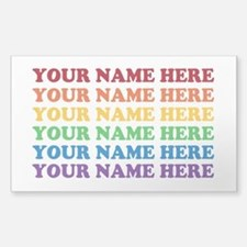 Rainbow Custom Text Decal