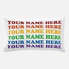 Rainbow Custom Text Pillow Case
