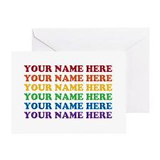 Rainbow Custom Text Greeting Card