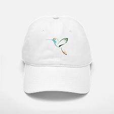Blue and Green Patchwork Hummingbird Baseball Baseball Cap
