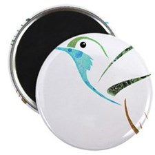 Blue and Green Patchwork Hummingbird Magnets