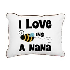 I Love Being A Nana Rectangular Canvas Pillow