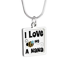 I Love Being A Nana Silver Square Necklace