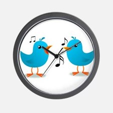 Bluebirds Serenade Wall Clock