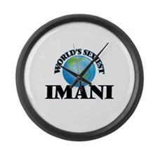 World's Sexiest Imani Large Wall Clock