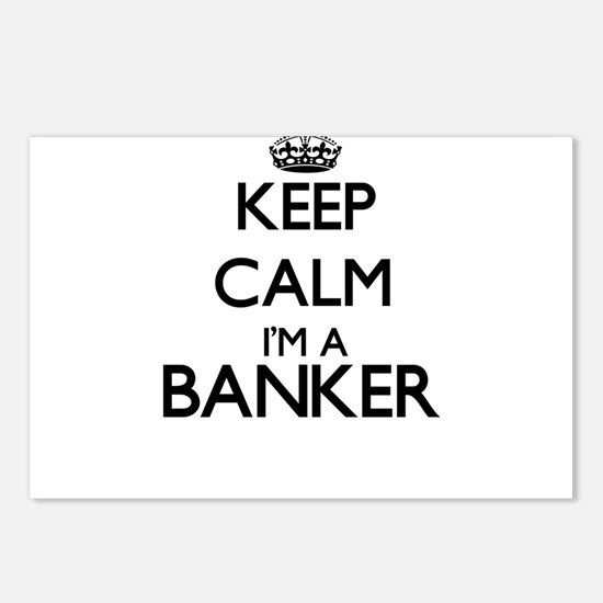 Keep calm I'm a Banker Postcards (Package of 8)