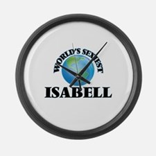 World's Sexiest Isabell Large Wall Clock