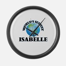 World's Sexiest Isabelle Large Wall Clock