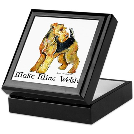 Welsh Terrier Profile Keepsake Box