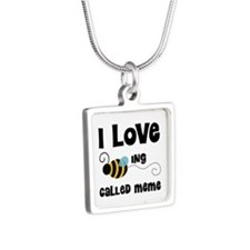 I Love Being Called Meme Silver Square Necklace