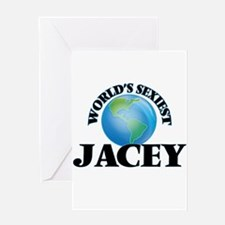 World's Sexiest Jacey Greeting Cards
