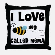 I Love Being Called Mema Throw Pillow