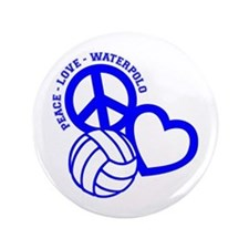 "Peace-Love-Waterpolo 3.5"" Button"