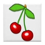 Cherry Delight Tile Coaster
