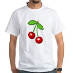 Cherry Delight White T-Shirt