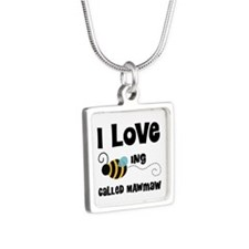 I Love Being Called Mawmaw Silver Square Necklace