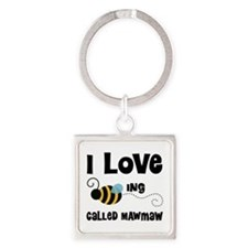 I Love Being Called Mawmaw Square Keychain