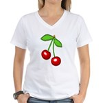 Cherry Delight Women's V-Neck T-Shirt