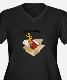 College Awaits Plus Size T-Shirt